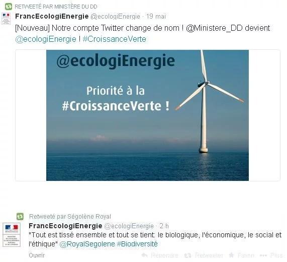 Tweets croissance verte