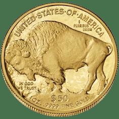 50 dollars Buffalo (Crédits US Mint, image libre de droits)