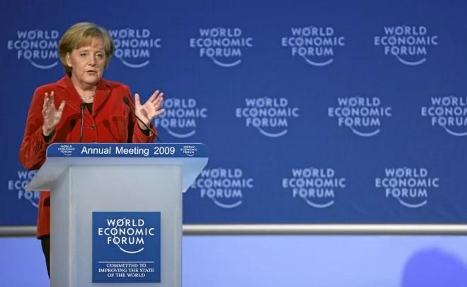 Angela Merkel 2 (Crédits World Economic Forum, licence Creative Commons)