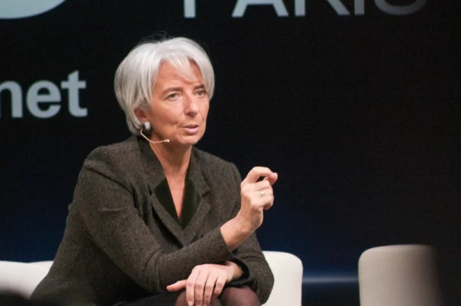"""Christine Lagarde (Crédits Adam Tinworth, <a href=""""https://creativecommons.org/licenses/by-nc/2.0/"""" target=""""_blank"""">licence CC-BY-NC 2.0</a>), via <a href=""""https://www.flickr.com/photos/adders/"""" target=""""_blank"""">Flickr</a>."""