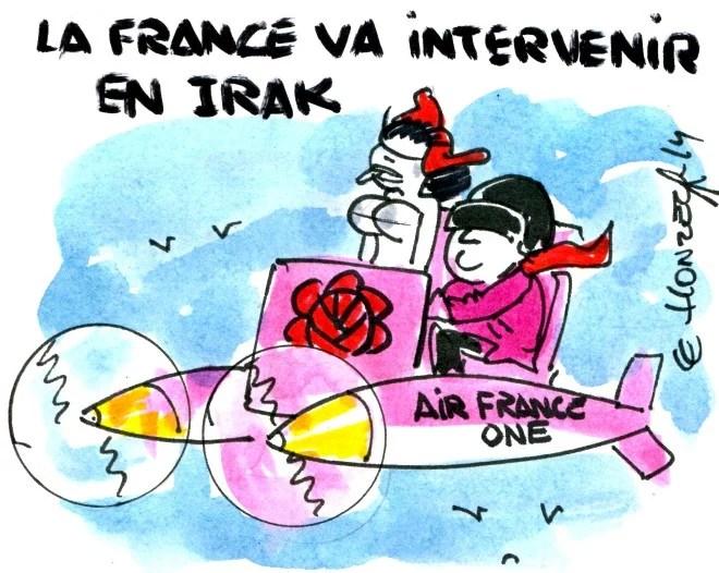 Hollande Irak rené le honzec