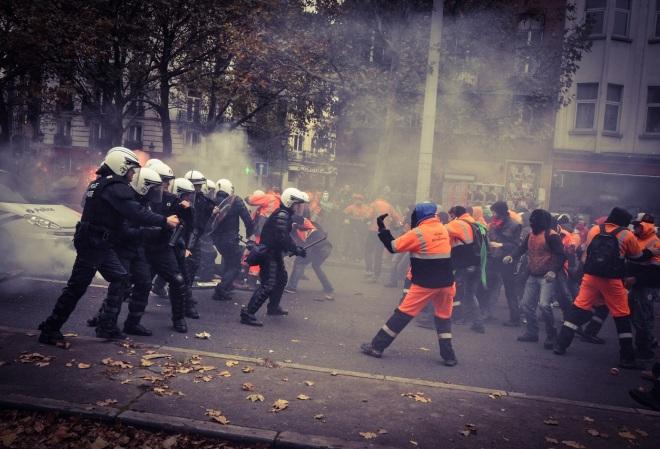 Belgique manifestation du 6 novembre 2014 - Credit secoursrouge(dot)org