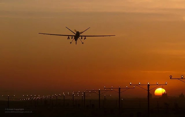 Drone credits Ministry of defence (licence creative commons)