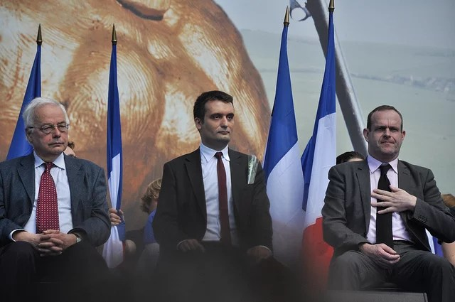 Front National Philippot Briois credits Le Cain (licence creative commons)