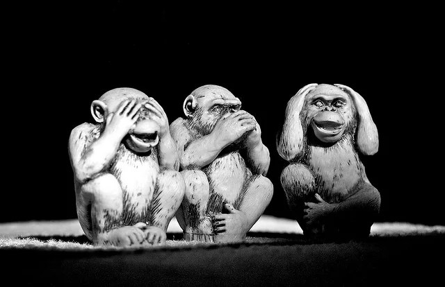 3 singes sages credits Andre Mancini (licence creative commons)