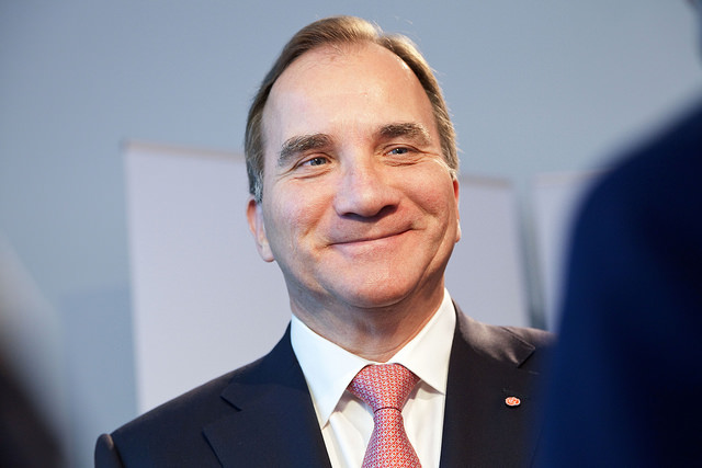 Stefan Lofven credits Socialdemokraterna (licence creative commons)