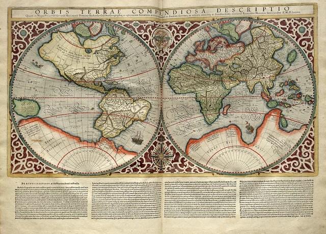 Mapa Mundi-Atlas sive Cosmographicae meditationes de fabrica mvndi et fabricati figvra 1595- Mercator- library of Congress (CC BY-NC-ND 2.0