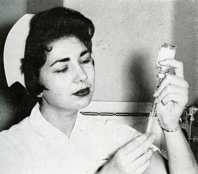 nurse with syringe credits Marquette university  (CC BY-NC-ND 2.0)