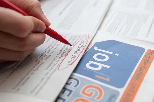 Chômage recherche d'emploi (Crédits : TaxCredits.net, licence CC-BY 2.0), via Flickr.