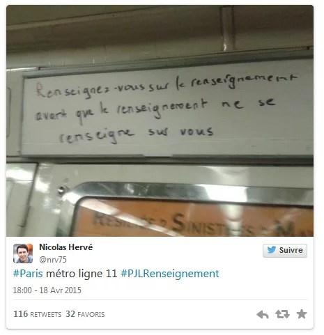 Loi renseignement métro parisien