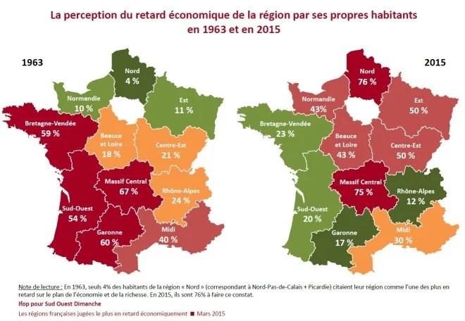Perception du retard économique régions