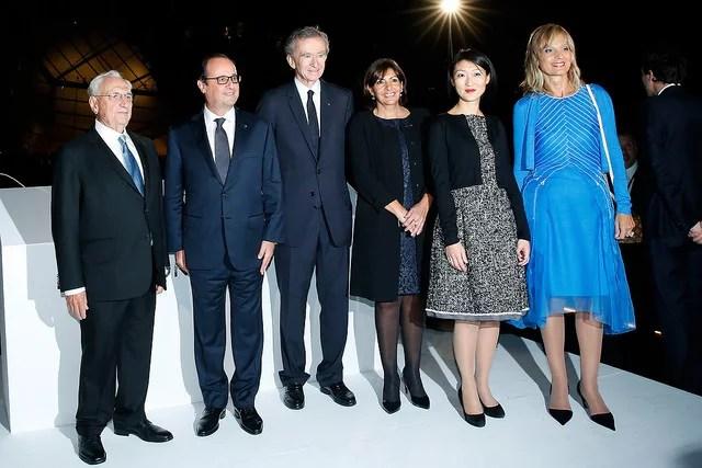 François Hollande, Bernard Arnault, Anne Hidalgo, Fleur Pellerin - Forgemind ArchiMedia (CC BY 2.0)