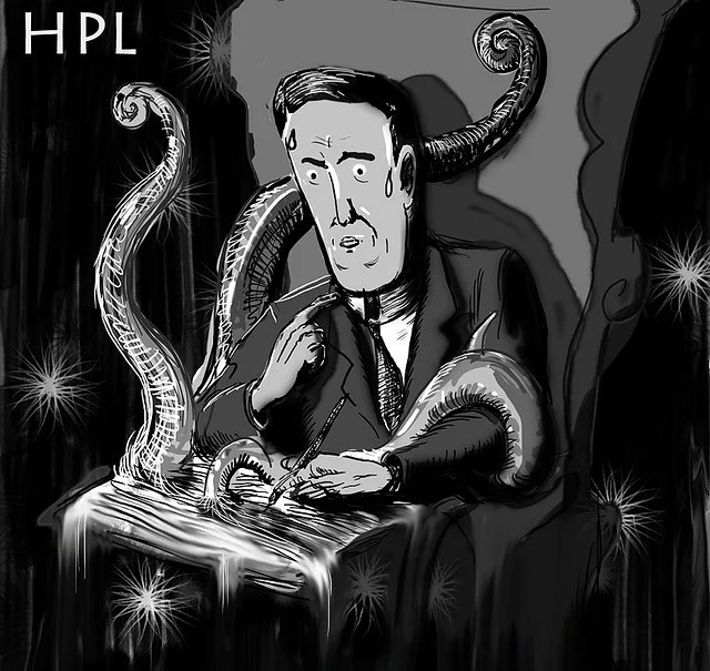 HP Lovecraft credits Chris Cosco licence (CC BY-NC-ND 2.0)), via Flickr.