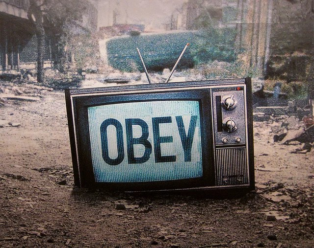 obey credits poster boy licence  (CC BY 2.0)), via Flickr.