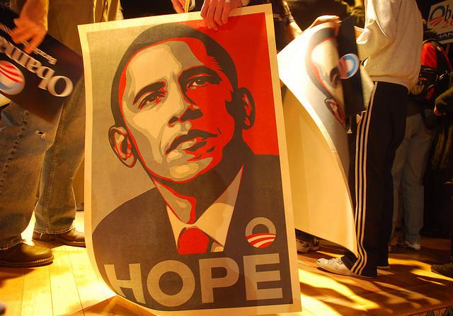 Obama Hope - Crédits Steve Rhodes via Flickr (CC BY-ND 2.0)