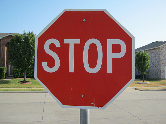 stop sign credits Clover Autrey (CC BY 2.0)