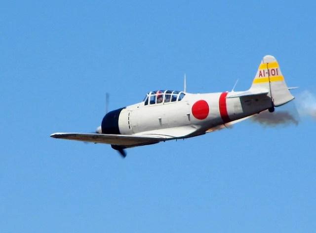 "Mitsubishi A6M Reisen ""Zero"" credits Roger Smith via Flickr ( (CC BY-NC-ND 2.0)"