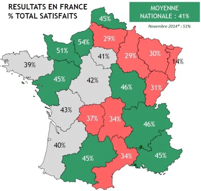 Carte des régions-sondage BVA