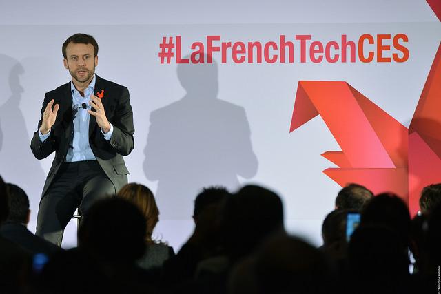 Emmanuel Macron à La French Tech Night en janvier 2016