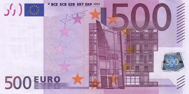 La suppression du billet de 500€ met en danger nos libertés plus que les criminels