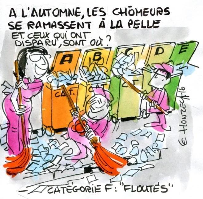 Chômage en France (Crédits : René Le Honzec/Contrepoints.org, CC-BY 2.0)