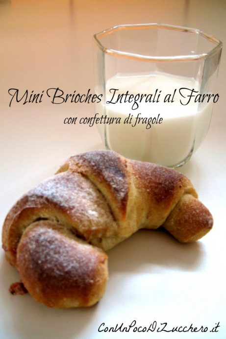 Mini brioches integrali al farro