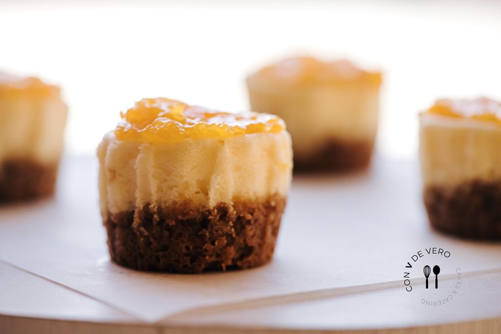 Mini Cheescake de Mango, Mini Cheescake, postres y dulces, postres y dulces Barcelona