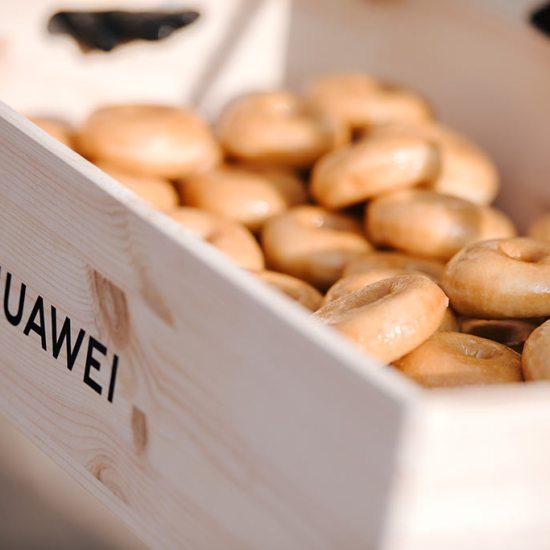 donuts de azucar, donuts, evento huawei barcelona, huawei plaza catalunya