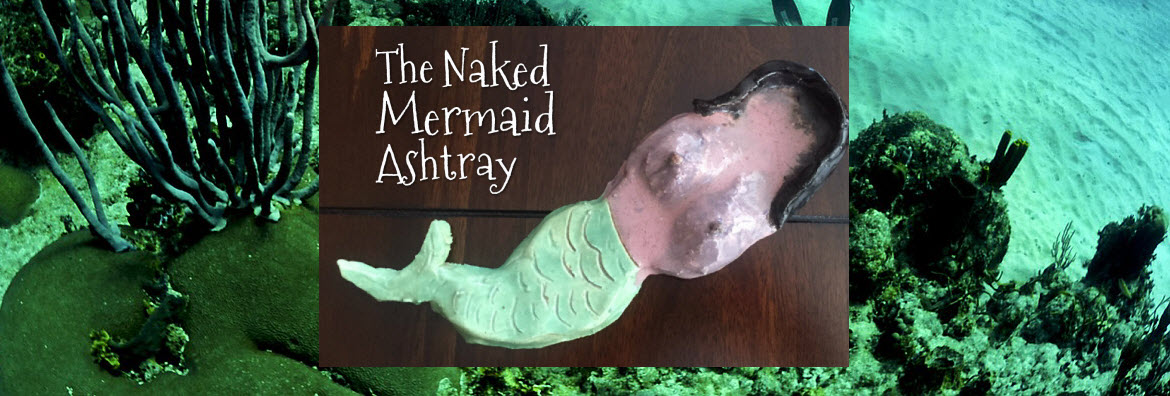 naked mermaid ashtray