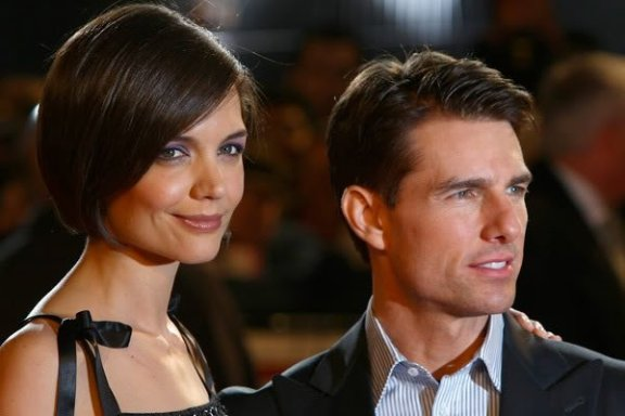 Katie Holmes and Tom Cruise before their divorce.