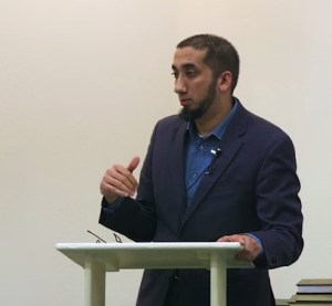 Nouman Ali Khan engages with the audience