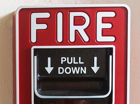 Fire Alarm Pull down activation
