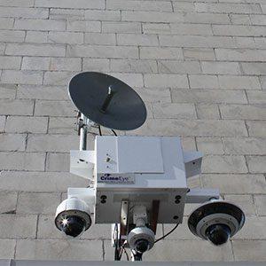 Crime eye camera on wall