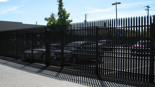 gated parking lot