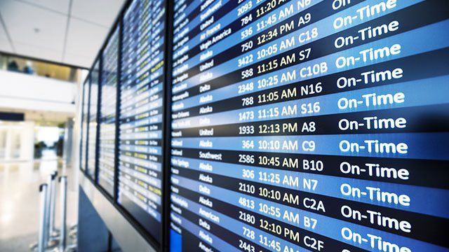 Airport arrivals screen header image