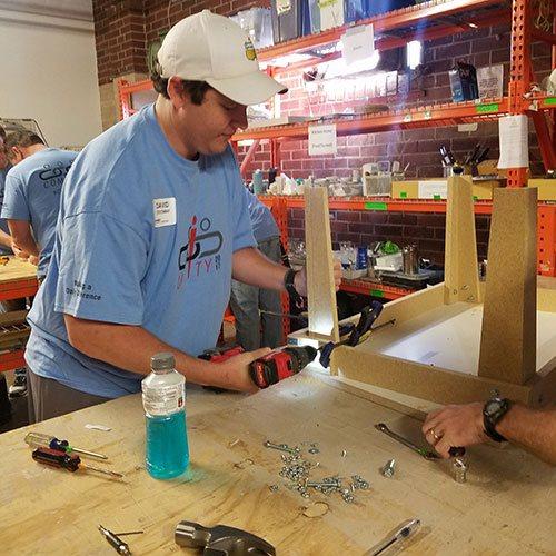 Atlanta Convergint Colleagues Volunteer At Furniture Bank For Social