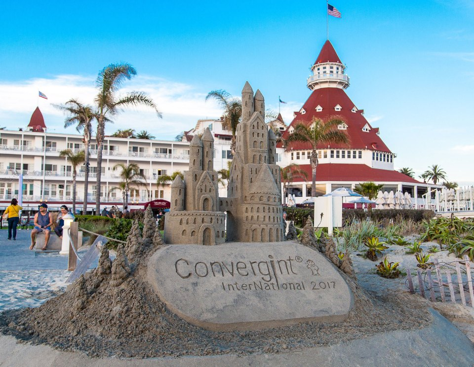 Convergint International 2017 sandcastle at the beach