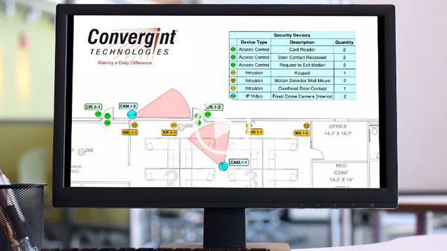 Convergint Design Tool on Computer