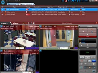 Dynamic Alarm Monitoring Image on Computer Screenshot
