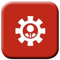 AODA Icon Person in Gear Image