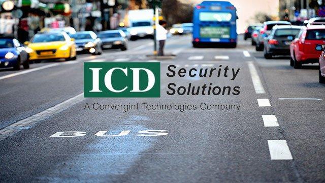 Bus and cars in the background with ICD logo overtop