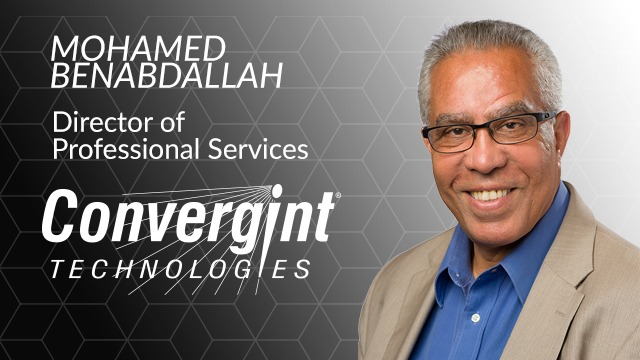 Convergint Director of Professional Services Mohamed Benabdallah