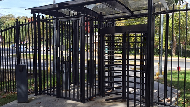 Gate entrance turnstiles for perimeter security