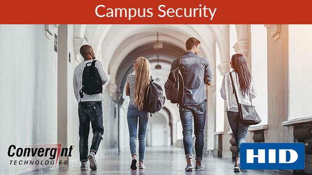 People walking down school hallway