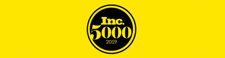 Inc 5000 Logo with bright yellow background