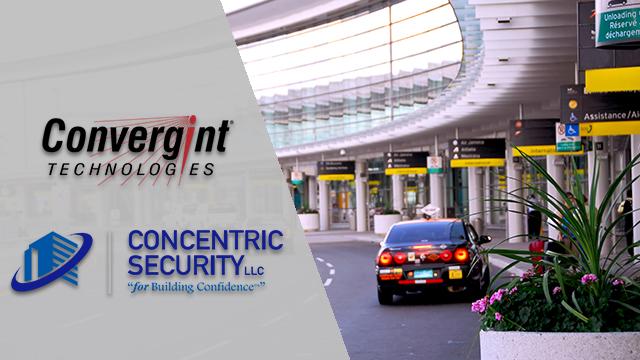 Car driving through airport terminal