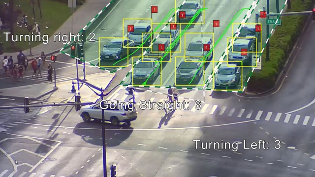 Traffic monitoring through video analytics