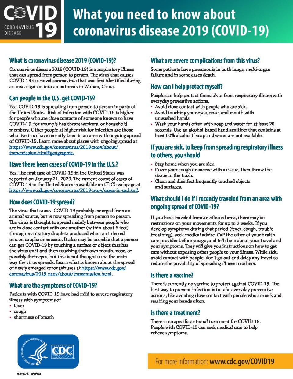 COVID-19 Public Health Resources - Convergint