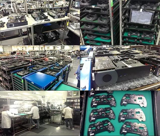 Linha de produção das Steam Machine