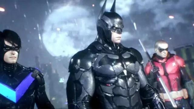 Batman ao lado de Asa Noturna e Robin